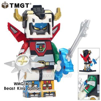 Single Sale Super Heroes Minifig The God Of War King Kong Voltron Beast One-Eyed Building Blocks Toys Gift For Children Friend