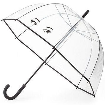 Clear Umbrella in Winking Eyes by Kate Spade New York - FINAL SALE