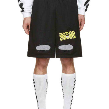 Construction Street Mesh Shorts by OFF-WHITE