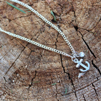 Anchor Anklet, Nautical Anklet, Anchor Jewelry, Nautical Jewelry, Silver Anchor, Silver Anklet, Ocean Inspired, Nautical Anklet, Sailor