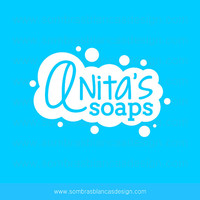 OOAK Premade Logo Design - White Bubbles - Perfect for a natural soaps shop or a fun cosmetics brand