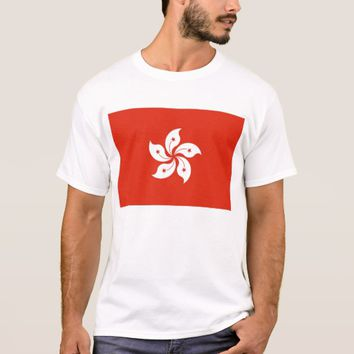 T Shirt with Flag of Hong Kong, China
