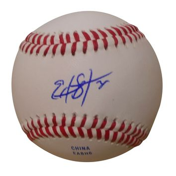 Edwin Diaz Autographed Rawlings ROLB1 Leather Baseball, Proof Photo