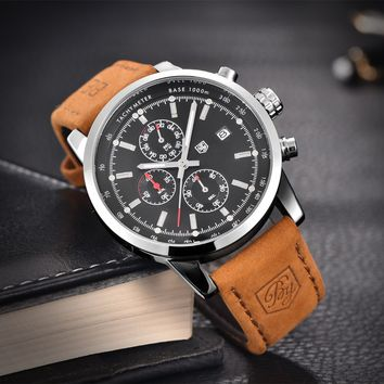 Men's Classy Leather Watch
