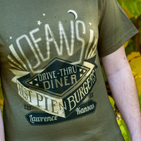 Supernatural Inspired - Dean Diner T-Shirt - Hand Screen Printed