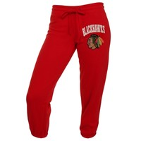 Chicago Blackhawks Ladies Relaxed Capri Pants - Red