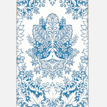 iPhone 6 Case  Bohemian Blue Cell Case  Samsung Galaxy   Indigo Floral Cell Case Monogram Case