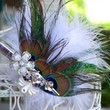 Handmade Bridal Peacock Feather Fascinator 3 inches | peaceloveandallthingsjewelry - Wedding on ArtFire