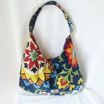 Hobo  Medium Floral Hobo bag  Customized Handbags by ACAmour