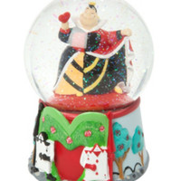 Disney Alice In Wonderland Queen Of Hearts Water Globe