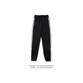 Alphabet Stripes Couple Casual Pants Sportswear [350389796900]