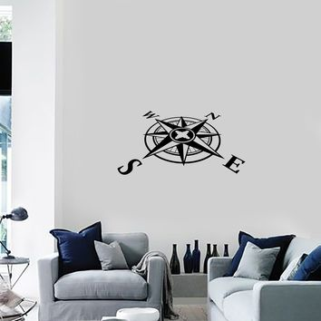 Vinyl Decal Wall Sticker Home Decor Mariner Compass Boat Pirate Unique Gift (g062)