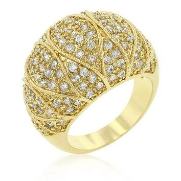 Gracie 1.2ct CZ 14k Gold Cocktail Dome Ring