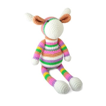 Multicolor Giraffe Handmade Amigurumi Stuffed Toy Knit Crochet Doll VAC