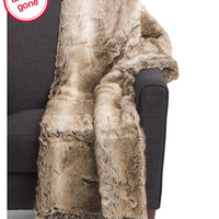 Stewart Faux Fur Throw - Cozy Accents - T.J.Maxx