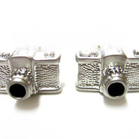 MATCHING SET: Photography Camera Cufflinks & Tie Clips