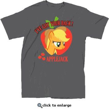 My Little Pony I've Got Your Back Applejack Adult Charcoal T-Shirt - My Little Pony - Free Shipping on orders over $60 | TV Store Online
