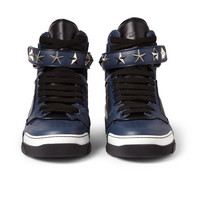 Givenchy - Tyson High Top Leather Sneakers with Stars | MR PORTER