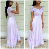 Vintage 60s Princes Ball Gown /Vintage 1960s Lavender Evening Gown/ Purple Fantasy Dress|Vintage Southern Belle Gown