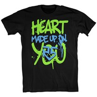Heart Made Up On You Paint Tee | R5 Rocks