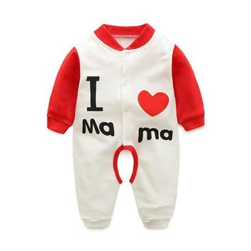 I Heart Mama Infant Baby Overall Jumpsuit