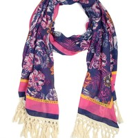 Frangipani Blooms Print Scarf by Juicy Couture