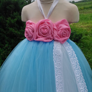 Wedding tutu dress – flower girl tutu – birthday tutu dress – party tutu dress – pageant dress – tutu dress – blue tutu dress – lace tutu