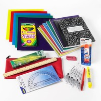 School-Pak Essentials for Middle School Supply Pack (Black/Marble/Red)