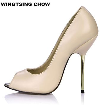 Large Size 43 Bling Wedding Shoes For Women Sexy High Heel Shoes Summer Pumps Spiked Heel Fashion Women Sandals Open Toe