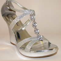 "3"" Wedge Heel Prom Sandals Your Party Shoes Zoey 303"