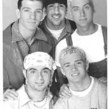 "Nsync Poster Black and White Poster 24""x36"""