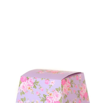 Floral Wedding Favor Gift Box - Pack of 12