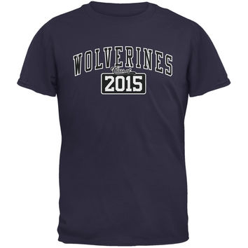 Graduation - Wolverines Class of 2015 Navy Adult T-Shirt