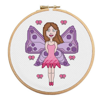 Cross Stitch Fairy Pattern Instant Download