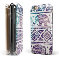 Tie-Dyed Aztec Elephant Pattern V2 2-Piece Hybrid INK-Fuzed Case for the iPhone 6/6s or 6/6s Plus
