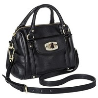 Merona® Mini Satchel Handbag with Removable Crossbody Strap - Black