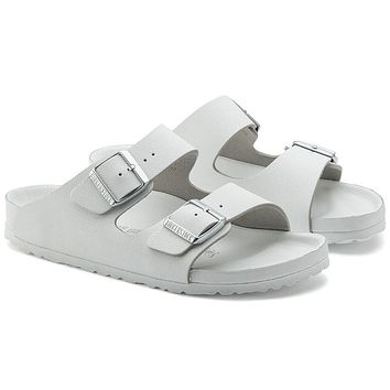 new arrival birkenstock arizona essentials eva all white
