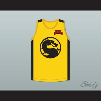 Bruce Leroy Green 85 The Last Dragon Yellow Mortal Kombat Jersey with Embroidered Patch