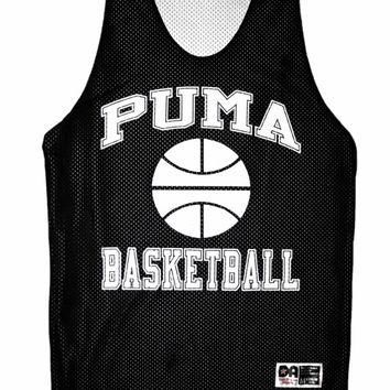 Vintage 90s Puma Basketball Jersey in Black Mens Size Medium