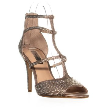 I35 Raechie Open Toe Strappy Sandals, Soft Bronze, 7 US
