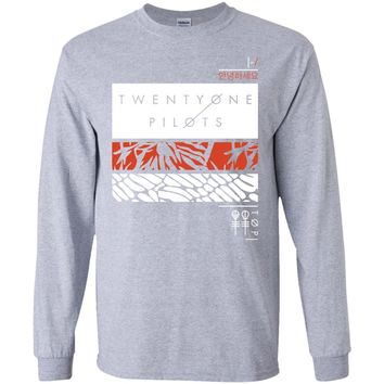 Twenty One Tshirt Pilot Rectangles T-Shirt-01 G240 Gildan LS Ultra Cotton T-Shirt