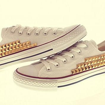 Gold Studded Converse