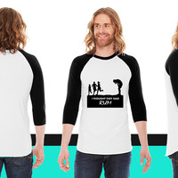 I thought they said rum American Apparel Unisex 3/4 Sleeve T-Shirt