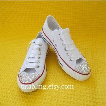bling converse shoes with swarovski stones wedding converse