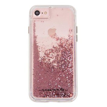 ONETOW Case-Mate iPhone 8 Case - WATERFALL - Cascading Liquid Glitter - Protective Design for Apple iPhone 8 - Rose Gold