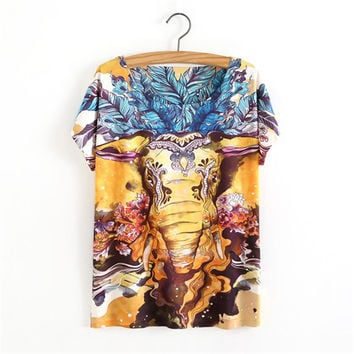 Love the Elephants Queen of the Jungle 3D Printed T-shirt - Love Elephants Collection