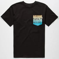 Bohnam Canoe Mens Pocket Tee Black  In Sizes