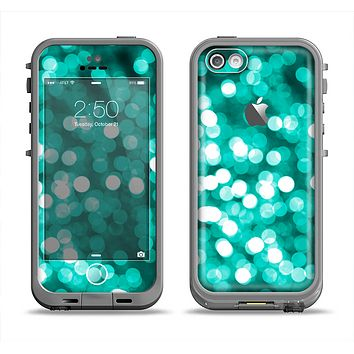 The Unfocused Teal Orbs of Light Apple iPhone 5c LifeProof Fre Case Skin Set