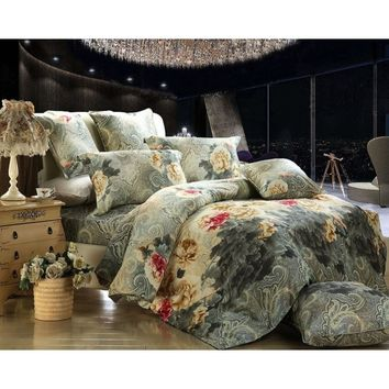 Paisley Design Queen Duvet Cover Luxury Bedding Dolce Mela DM452Q - Gifts for You and Me