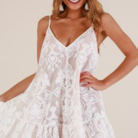 Lush Lover dress in white lace Produced By SHOWPO